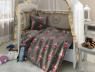 """Ткань для постельного белья Бязь """"Gold"""" Lux детская """"Феи (серый)"""" GLB121"""