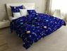 Евро макси набор постельного белья 200*220 из Сатина №1081AB Черешенка™