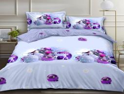 Двуспальный набор постельного белья 180*220 из Ранфорса №18842AB Черешенка™