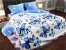 """Ткань для постельного белья Бязь """"Gold"""" Lux"""" Бабочки (синий)"""" GL1120 (A+B) - (50м+50м)"""