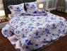 """Тканина для постільної білизни Бязь """"Gold"""" Lux """"Вишневий цвіт (синій)"""" GL3075blue"""