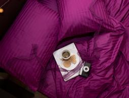 Семейный набор хлопкового постельного белья из Страйп Сатина №542929 KRISPOL™