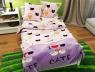 """Тканина для постільної білизни Бязь """"Gold"""" Lux дитяча """"I Love Cats"""" GLB102"""