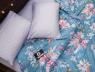 Полуторный набор постельного белья 150*220 из Сатина №8613AB Черешенка™