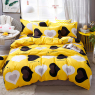 """Ткань для постельного белья Бязь """"Gold"""" Lux """"Удивительная любовь (желтый)"""" GL4154"""