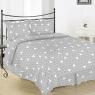 """Ткань для постельного белья Бязь """"Gold"""" Lux """"Геометрический принт (триугольни, серый)"""" GL5741"""
