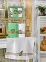 Набір кухонних рушників Nilteks Mimoza Zeytin 50*70 (3 шт)