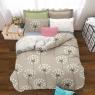 Семейный набор хлопкового постельного белья из Ранфорса №18685AB Черешенка™