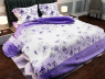 """Ткань для постельного белья Бязь """"Gold"""" Lux """"Цветочный принт (веточка, фиолетовый)"""" GL389"""