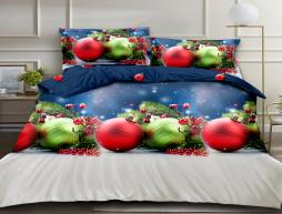 Двуспальный набор постельного белья 180*220 из Ранфорса №18847AB Черешенка™
