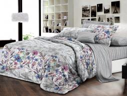 Полуторный набор постельного белья 150*220 из Ранфорса №18061AB Черешенка™