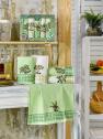 Набор кухонных полотенец Nilteks Ekose Zeytin 40*60 (5 шт)