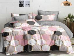 Двуспальный набор постельного белья 180*220 из Сатина №1022AB Черешенка™