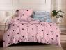 Полуторный набор постельного белья 150*220 из Сатина №1507AB Черешенка™