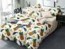 Двуспальный набор постельного белья 180*220 из Сатина №1756AB Черешенка™