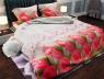 """Ткань для постельного белья Бязь """"Gold"""" Lux """"Розовые тюльпаны"""" GL851"""