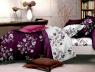 """Ткань для постельного белья Бязь """"Gold"""" Lux GL1022 (A+B) """"Цветочный принт (фуксия)"""" - (50м+50м)"""