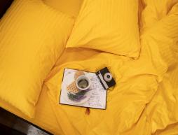 Семейное постельное белье из страйп-сатина