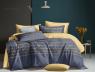 """Ткань для постельного белья Ранфорс """"Золотая надпись"""" R-HX640 (A+B) - (50м+50м)"""
