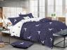 Двуспальный набор постельного белья 180*220 из Сатина №486AB Черешенка™