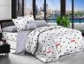 Семейный набор хлопкового постельного белья из Ранфорса №181317AB Черешенка™