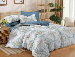 Двуспальный набор постельного белья 180*220 из Сатина №388AB Черешенка™