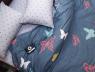 Полуторный набор постельного белья 150*220 из Сатина №8018AB Черешенка™