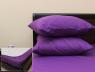 Комплект простирадла на резинці з наволочками (160*200*25) фіолетовий