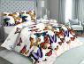"""Ткань для постельного белья Бязь """"Gold"""" Lux """"Бабочки (крупный, молочный)""""GL2942"""