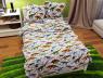 """Ткань для постельного белья Бязь """"Gold"""" Lux детская """"Динозавры"""" GLB161"""