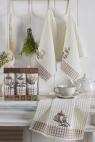 Набор кухонных полотенец Nilteks Gualite Koffe 35*50 (3 шт)