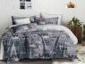 Полуторный набор постельного белья 150*220 из Сатина №100AB Черешенка™