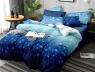 Двуспальный набор постельного белья 180*220 из Сатина №663AB Черешенка™