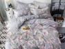 """Двуспальный набор постельного белья 180*220 из Бязи """"Gold"""" с простынью на резинке №147537AB Черешенка™"""