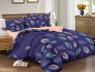 """Ткань для постельного белья Бязь """"Gold"""" Lux """"Разноцветные перья (фиолетовый)""""GL1207 (A+B) - (50м+50м"""