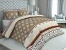 """Ткань для постельного белья Бязь """"Gold"""" Lux """"Мелкий принт (коричневый, полоска)"""" GL535"""
