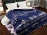 """Ткань для постельного белья Бязь """"Gold"""" Lux """"Лондонский мост (урбанистический, синий)""""GL1328 (A+B) - (50м+50м)"""
