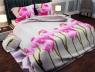 """Ткань для постельного белья Бязь """"Gold"""" Lux """"Цветочный принт (серый)"""" GL724"""